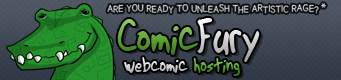 'Comic Fury webcomic hosting' from the web at 'http://comicfury.com/images/mascots/gatorbanner1.png'